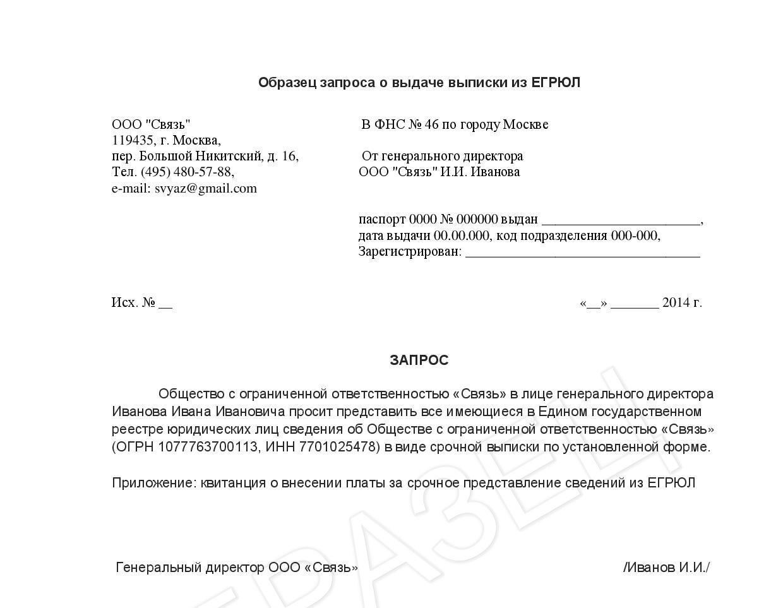 Официальная выписка из ЕГРЮЛ по ИНН / ОГРН