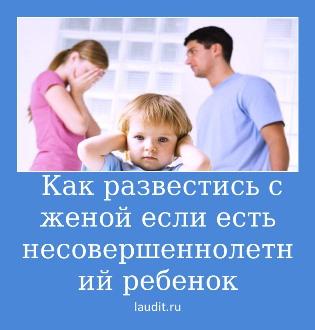 как развестись с женой если есть несовершеннолетний ребенок