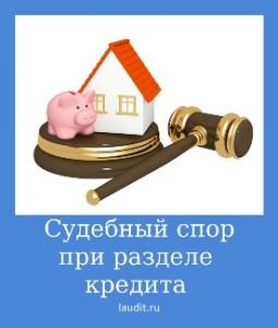 Судебный спор при разделе кредита