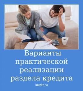 Варианты практической реализации раздела кредита