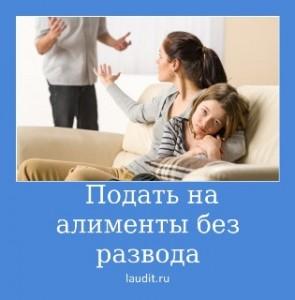 подать на алименты без развода
